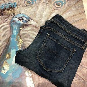 Arizona Bootcut Size 3 Short Darkwash Jeans